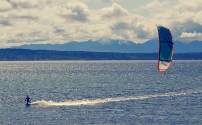 Kite Surf'n On Puget Sound