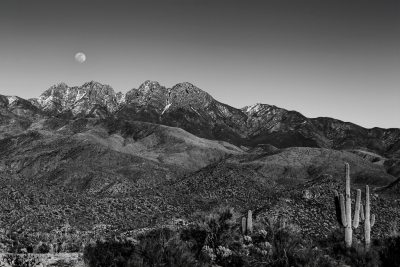 Moonrise Over Four Peaks