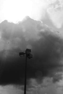 The Lamp Post And The Storm Clouds