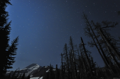 Moonlight On Mt. Hood