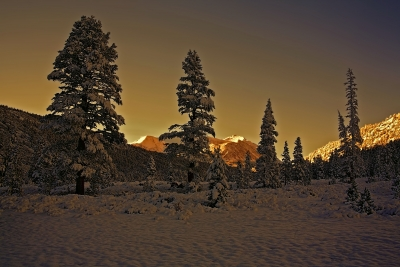 Winter Sunrise In Rock Creek Canyon Eastern Sierra