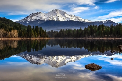 Mount Shasta Morning Reflection