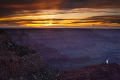 Last Light In The Grand Canyon