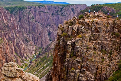 Pulpit Rock At Black Canyon Of The Gunnison