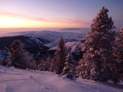 Sunset At Bogus Basin