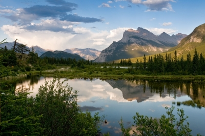 Mt. Rundle From Vermilion Lakes