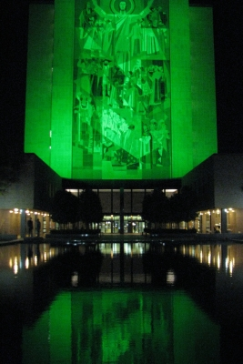Hesbaugh Library In Irish Green
