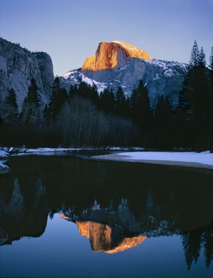 Half Dome Winter Reflection