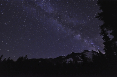 Mt. Jefferson At Night