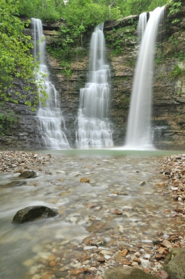 Twin Falls With 3 Cascades