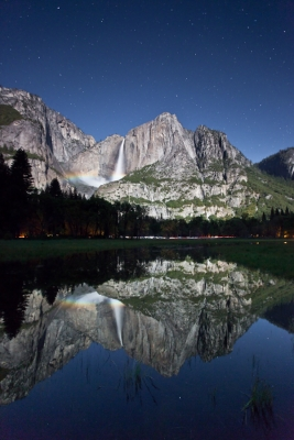 Yosemite Falls Moonbow Times Two