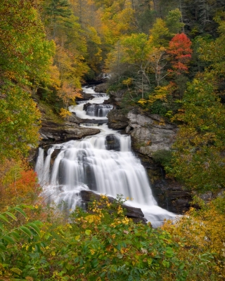 Cullasaja Falls In Autumn