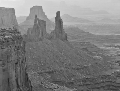 Spires At Dawn From Mesa Arch
