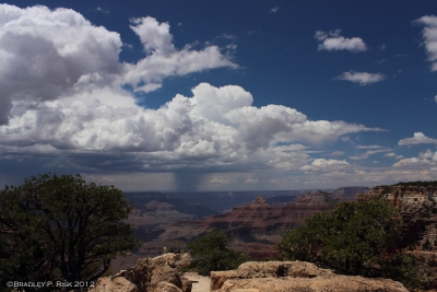 Distant Storms From Cape Royal