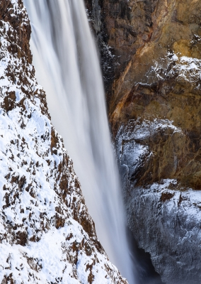First Snow Yellowstone Upper Falls