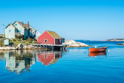 Reflections At Peggy's Cove
