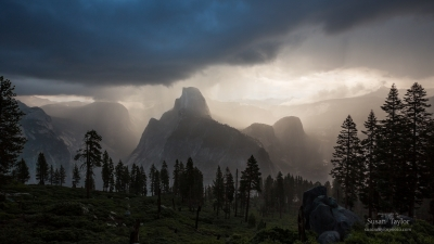 Yosemite, First Light Thunderstorm