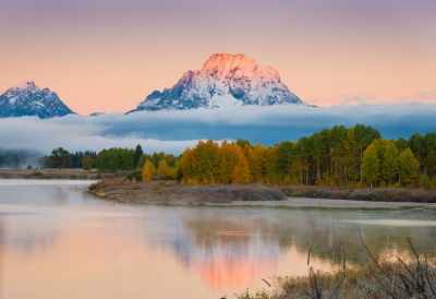 Early Autumn Snow On Mount Moran