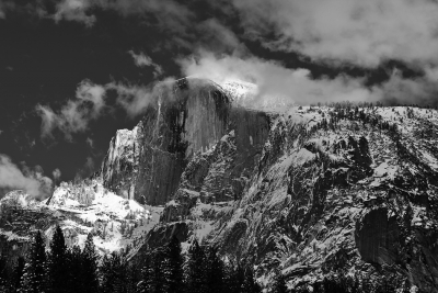California, Yosemite National Park, Half Dome, Winter