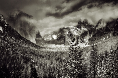 Snow Clouds Over Yosemite Valley