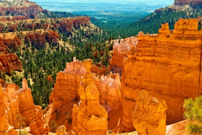 Morning Light On The Rock Formations Of Bryce Canyon National Park