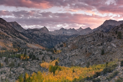 Autumn Sunset, Sabrina Basin (eastern Sierra)