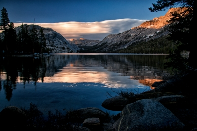 Sunset At Tenaya Lake