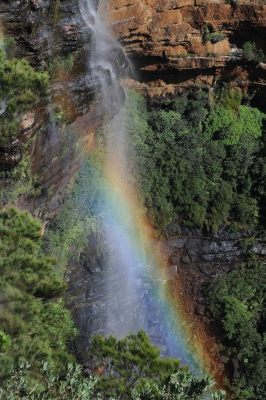 Rainbow At Wentworth Falls