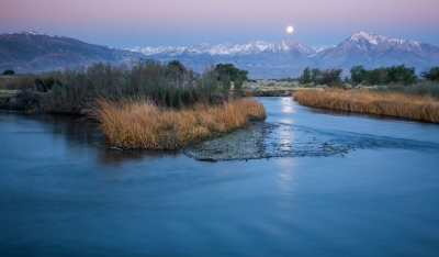 Owens River Moonset