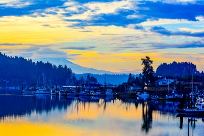 View Of Mt. Rainier From Gig Harbor