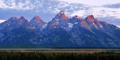 The Tetons In Early Morning Light