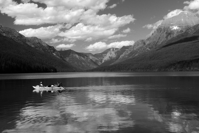 Boating On Bowman Lake