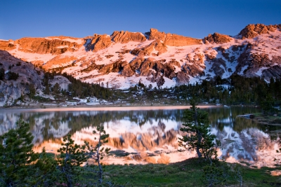 Alpenglow Young Lakes, Yosemite