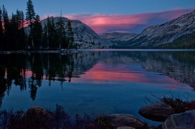 Lenticular Sunset At Tenaya Lake