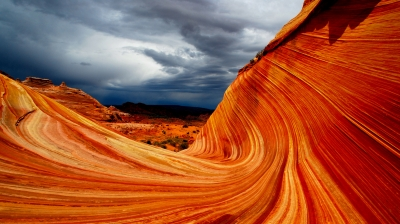 The Wave With Approaching Storm