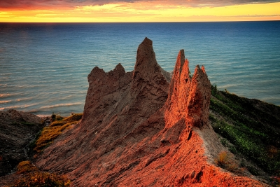 The Last Light At Chimney Bluffs