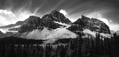 Crowfoot Mountain Panorama