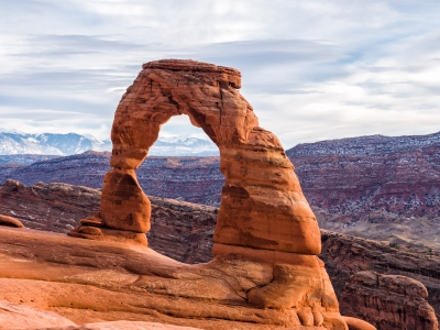 Delicate Arch Winter Land