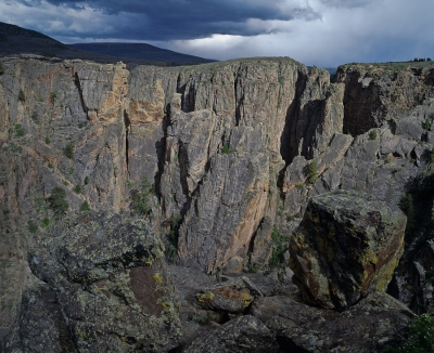 Thunderstorm Over North Rim Of Black Canyon