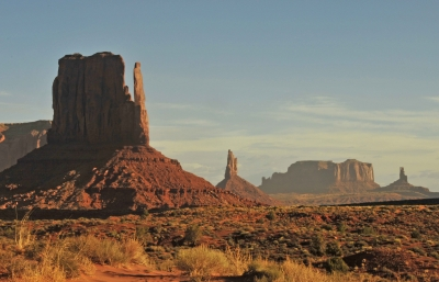 West Mitten At Monument Valley On A Windy Afternoon