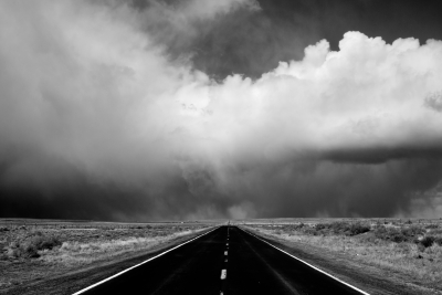 Driving Into The Storm