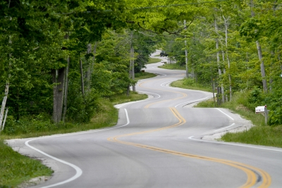 Door County Winding Road