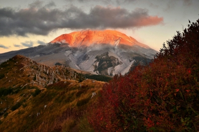 Alpenglow On Mt. St. Helens