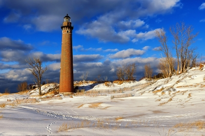 A Golden Afternoon At Little Sable Point
