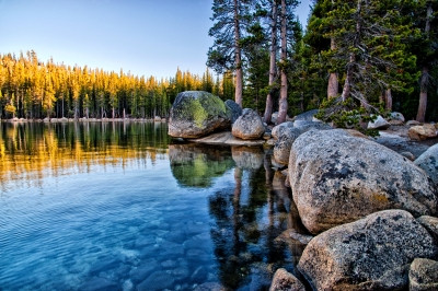 Erratics At Tenaya Lake