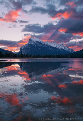 Mount Rundle Light Show