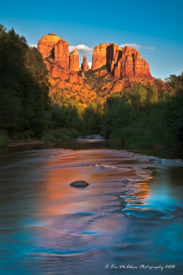 Sedona Sunset With A Twist Of Color
