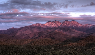 Sunset On The Four Peaks
