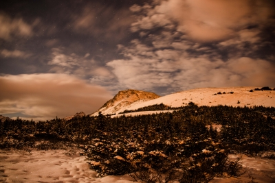 Halloween Moonlight Over Flattop Mountain