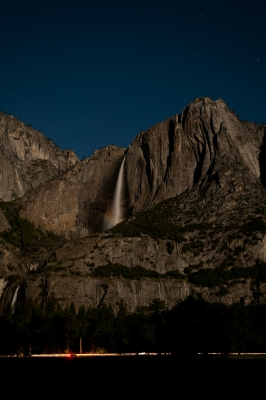 Yosemite Valley On A Full Moon Night